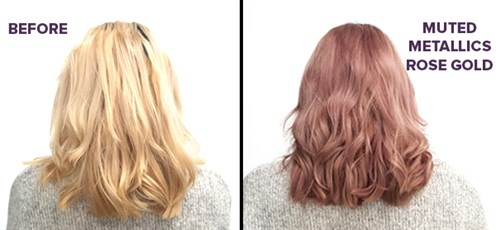 Rose Gold Before And After